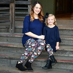 Matching in Mommy- -Me Leggings. love this brand 452fcfa9f3