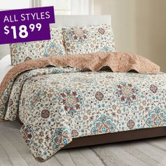 Deals on Quilts Sets from $18.99