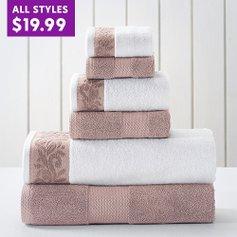 Steals on 6-Piece Towel Sets