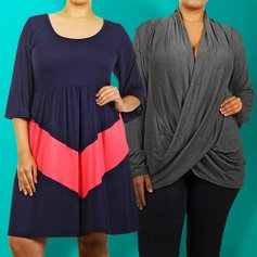 4e7fda4de0559f Pops of Color  Plus-Size Apparel