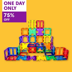 one day only 75% off