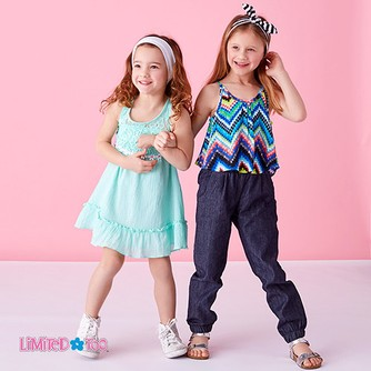 Limited Too Girls French Terry Sleeveless Top and Short Set