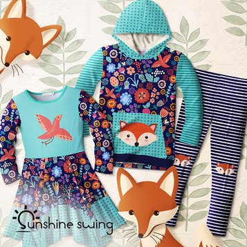 kids christmas clothes sunshine swing girls