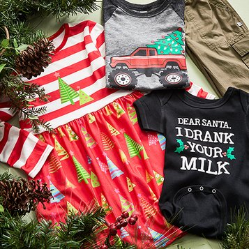 ff6d75c1b58 Kids Christmas Clothes - Fun Holiday Apparel Sets   Separates
