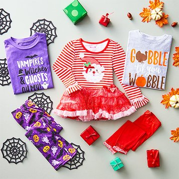 c320b82c8b27 Kids Christmas Clothes - Fun Holiday Apparel Sets & Separates