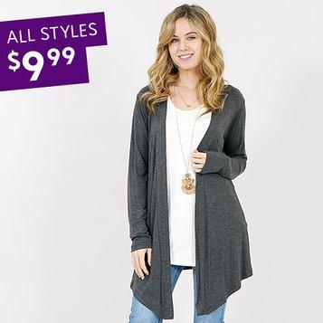 ec3c9b66f3 Women's Plus Size Clothing. Divine Drape-Front Cardigans: S-3X
