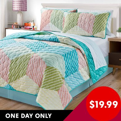 Home & Main 3-Piece Reversible Quilt Sets (Queen or King) (various styles)