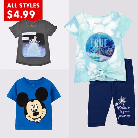 all styles $4.99