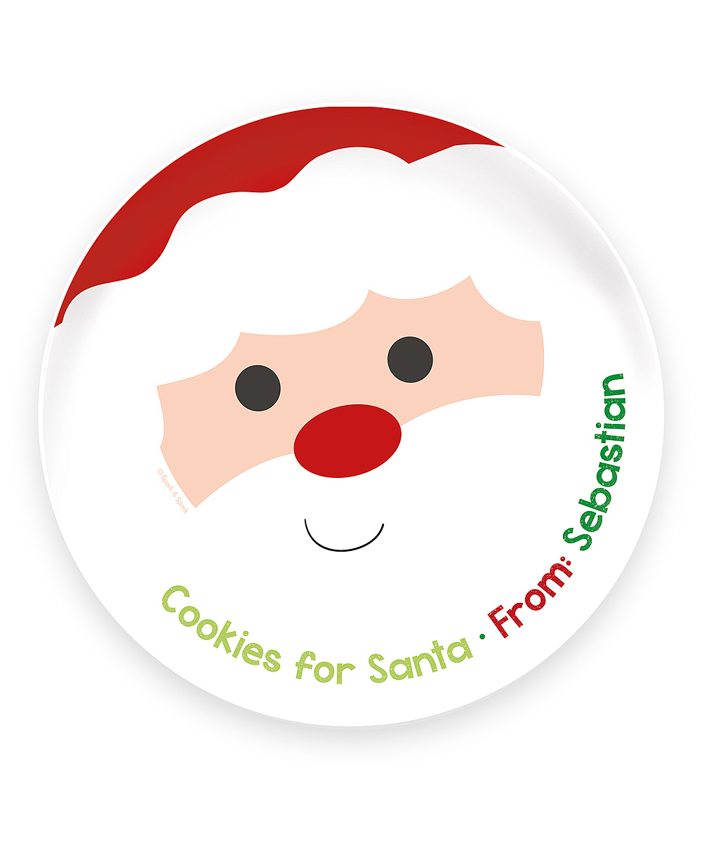 Spark Spark Cookies For Santa Personalized Plate