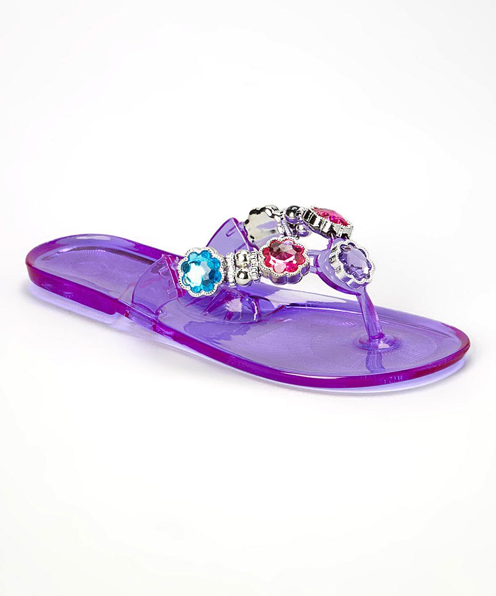 d2d0583ca love this product Purple Flower Rhinestone Jelly Flip-Flop