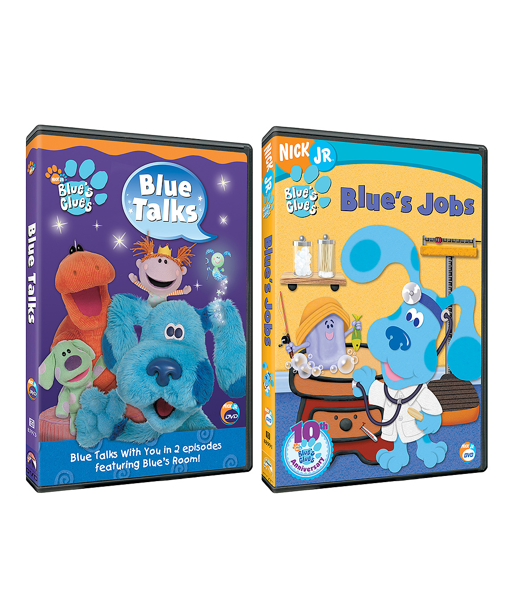 blues clues blue talks blues jobs dvd set zulily rh zulily com
