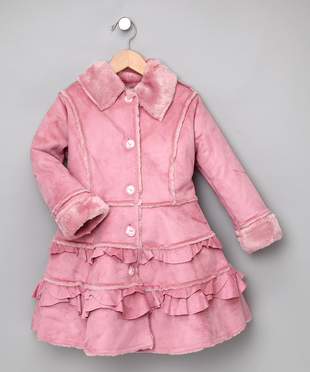 387bf88b0be5 Widgeon - Pink Tiered Faux-Fur Coat