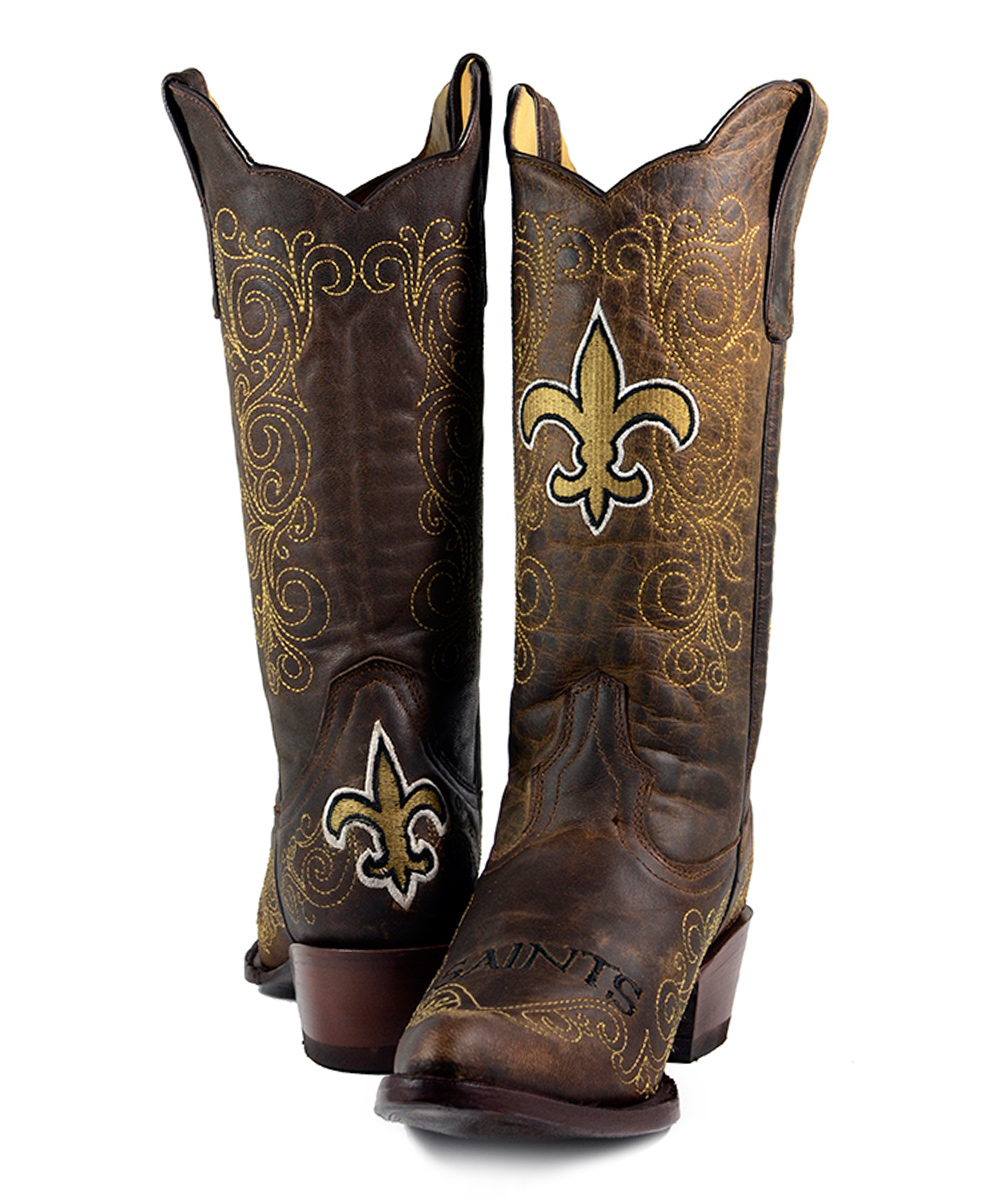 283deef8 Old Pro Leather Goods Co. New Orleans Saints Flyover Cowboy Boot - Women