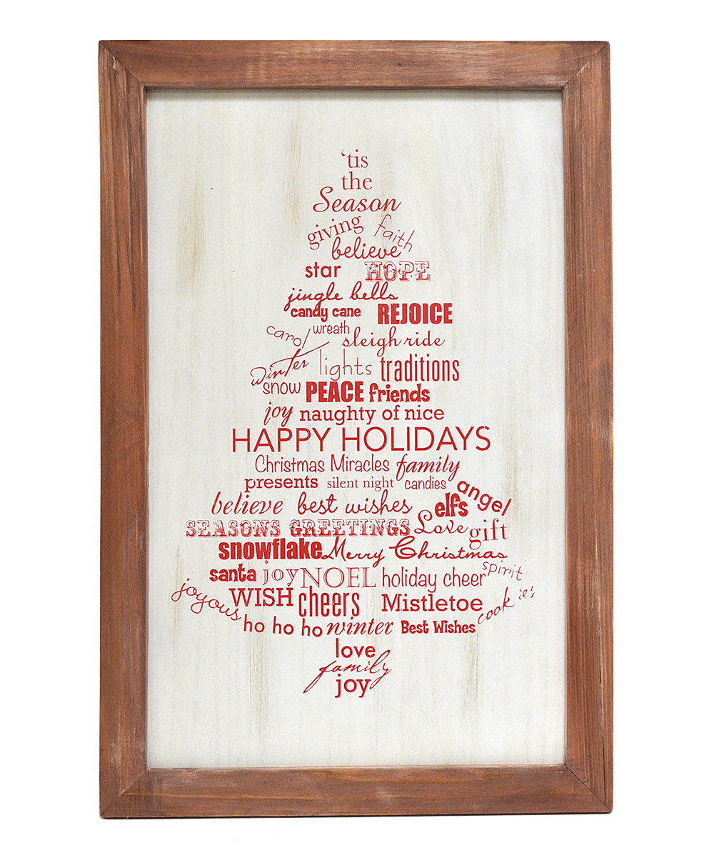 Words Tree Wall Plaque Frame
