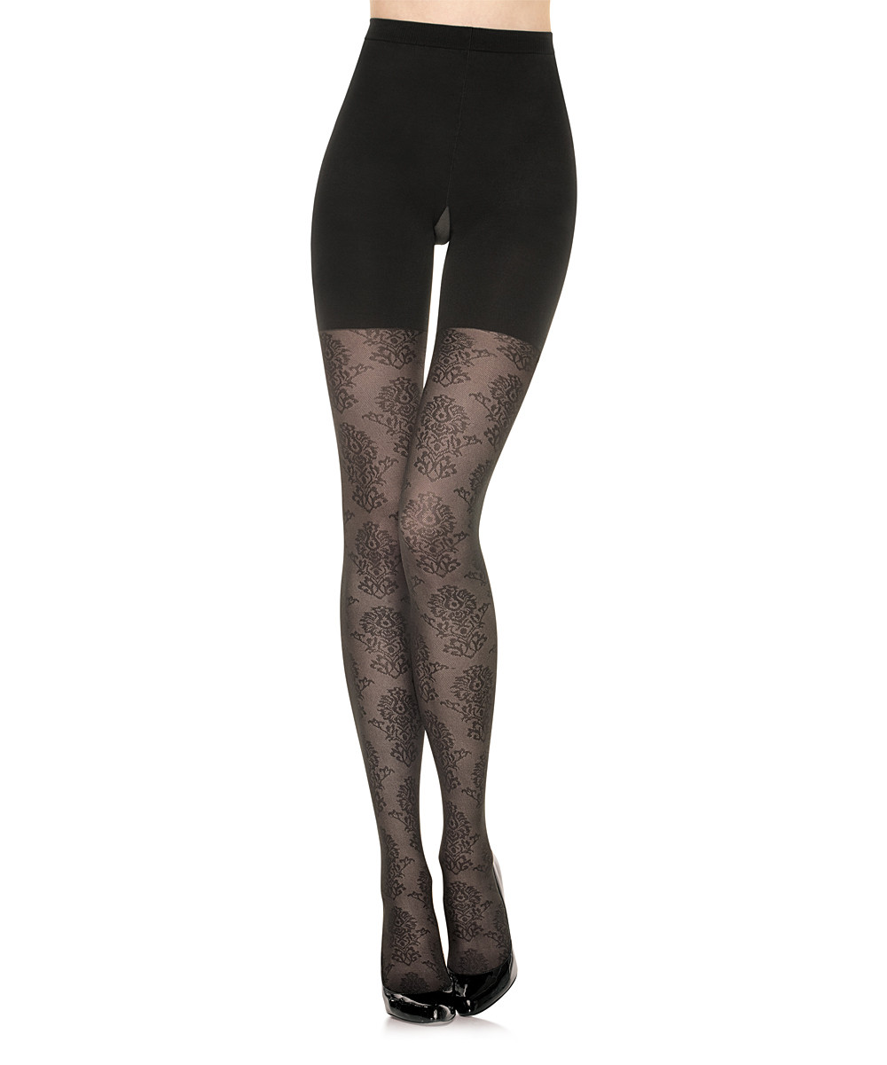 6e64e1c97b0cf4 love this product Star Power Center Stage Shaping Tights - Black Medallion