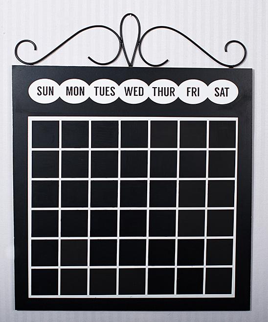 Adams Co Wood Metal Chalkboard Calendar Zulily