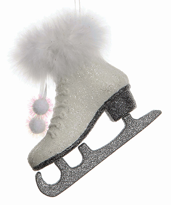 love this product White Glitter Ice Skate Ornament - White Glitter Ice Skate Ornament