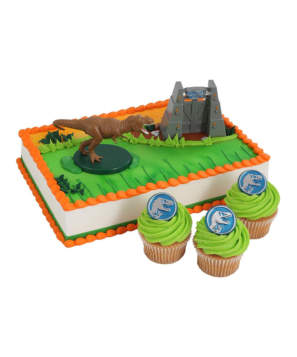 Jurassic Park World Cake Topper Cupcake Ring Set