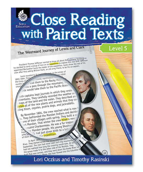 Shell Education Grade 5 Close Reading With Paired Texts Workbook