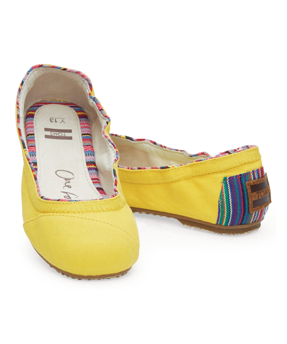 b7de769eff8 love this product Yellow Canvas   Woven Classics Ballet Flat - Youth