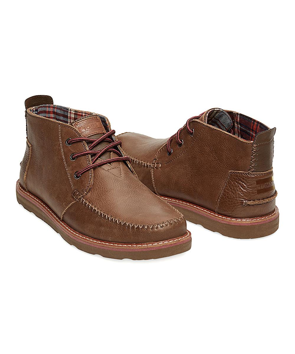 fc17882b2bd TOMS Chocolate Leather Classics Chukka Boot - Men