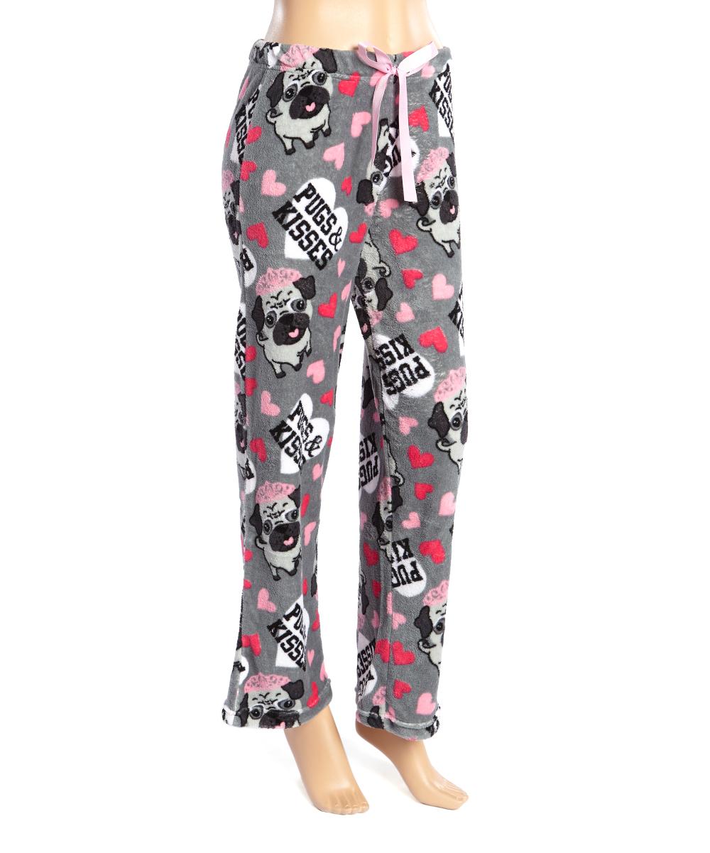 Sleep & Co Gray Pugs & Kisses Pajama Pants