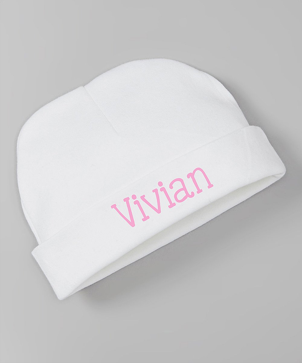 love this product White   Pink Team Pink Match Personalized Beanie - Newborn 017bc5378a8