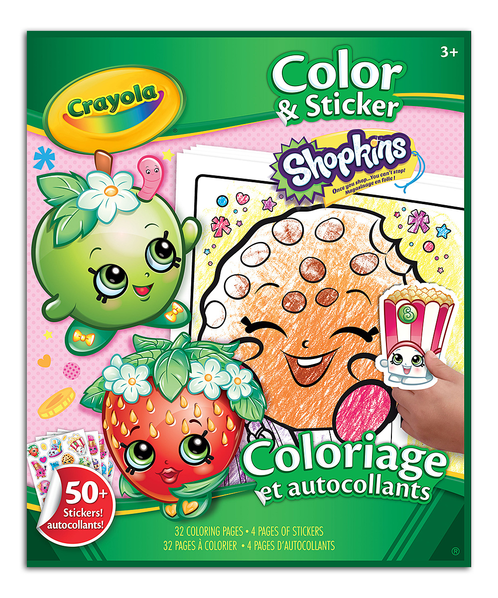Shopkins™ Color & Sticker Book | zulily