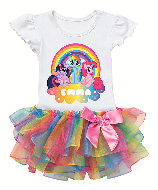 6c024acff love this product My Little Pony Rainbows Personalized Tutu Tee - Toddler &  Kids