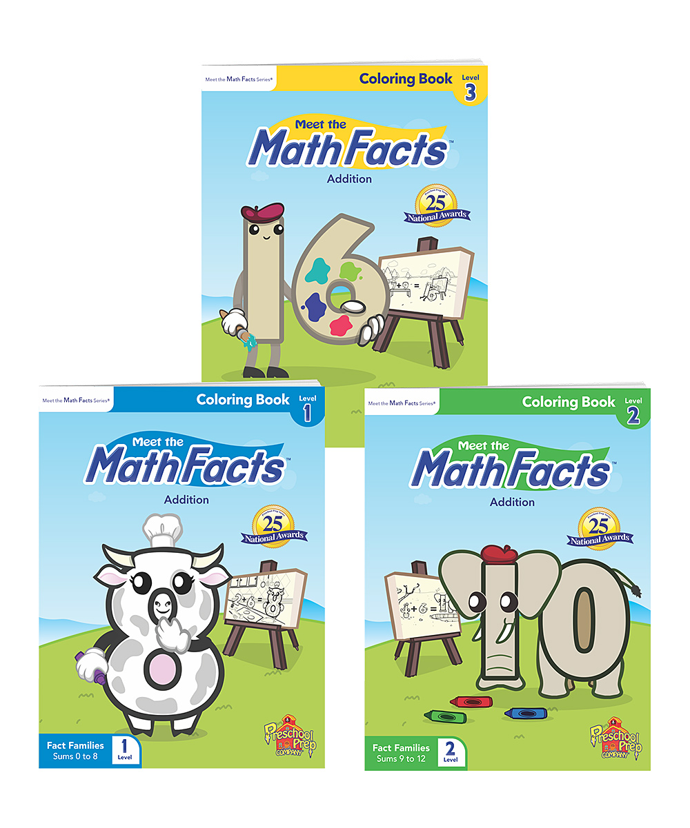 Preschool Prep Meet the Math Facts Coloring Book Set
