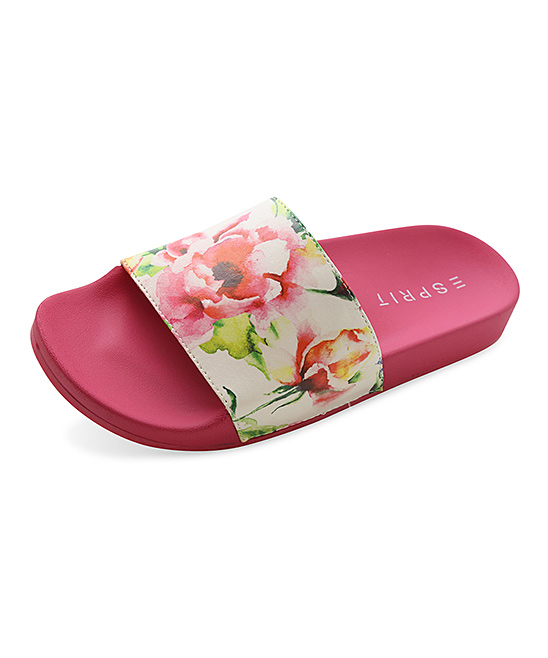 esprit pink white floral march slide zulily