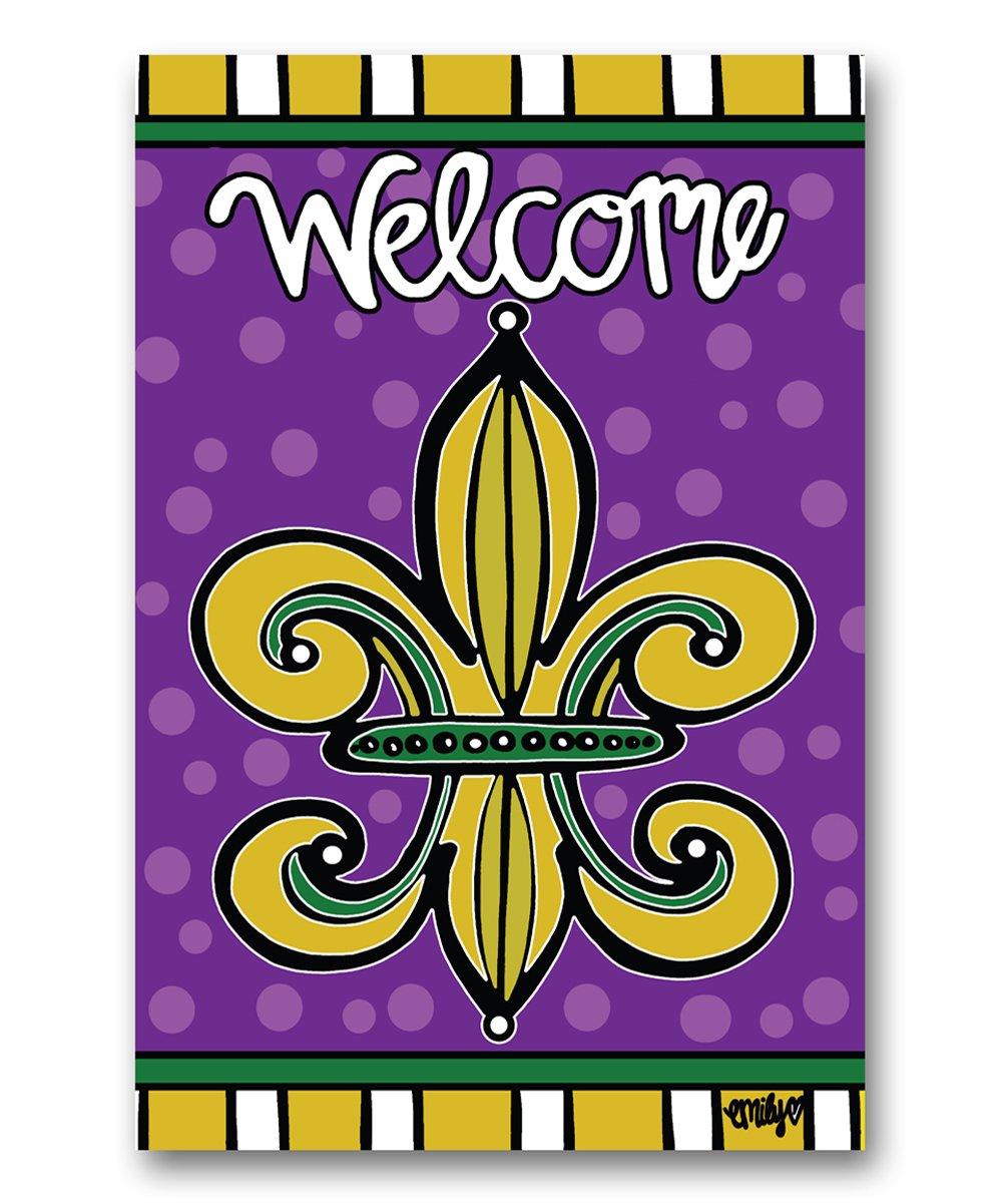 Magnolia Lane Welcome Fleur De Lis Outdoor Flag Zulily