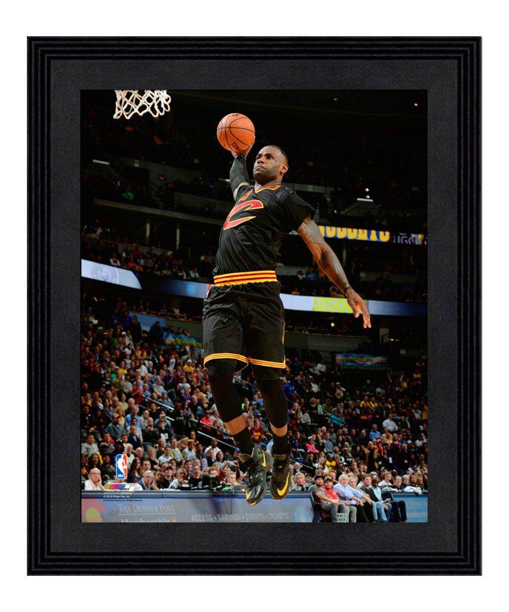 brand new 56280 03771 Photo File Cleveland Cavaliers LeBron James Alternate Jersey Framed Photo