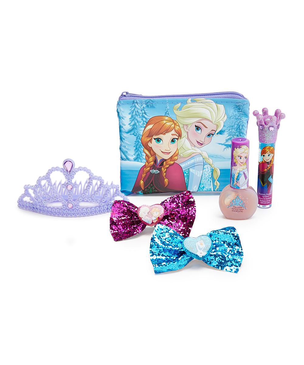 Townley Girl Frozen Makeup & Hair Crown Cosmetic Set