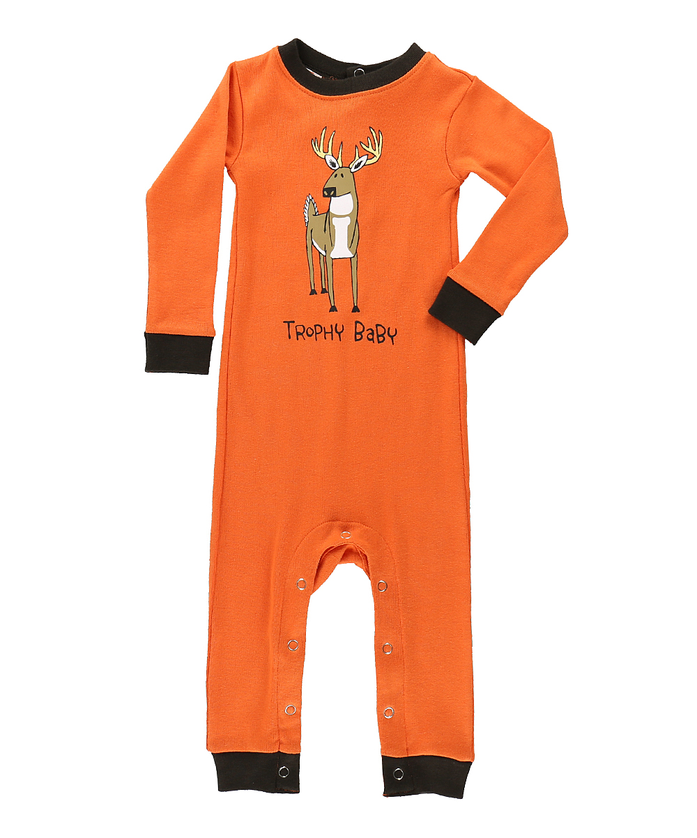 b9350bf0f Lazy One Orange trophy Baby Pajamas - Infant