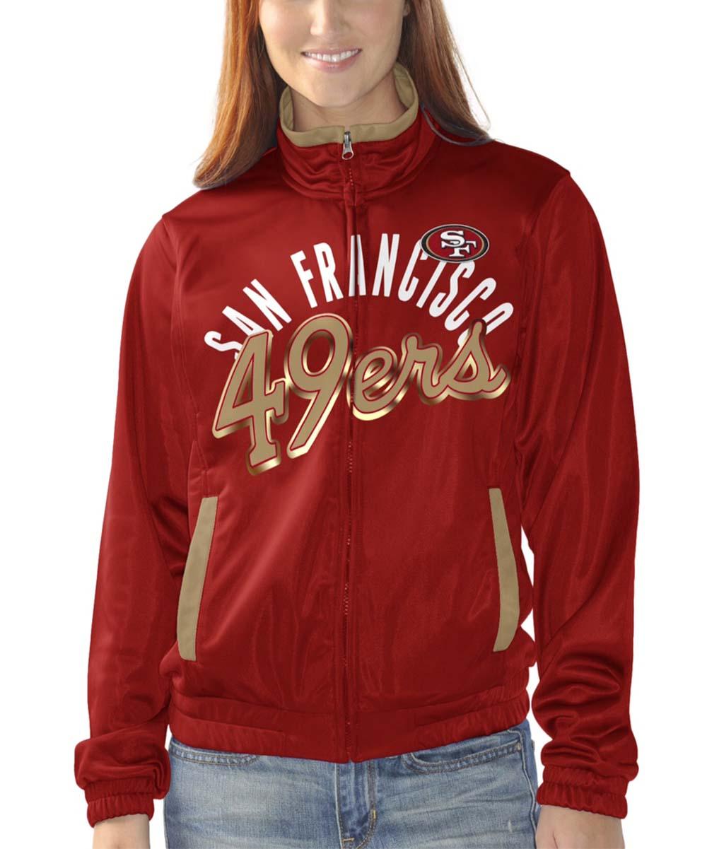 6dbba90c San Francisco 49ers Star Club Zip-Up Track Jacket - Women