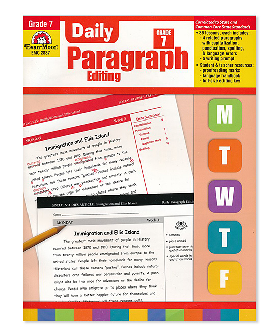 Evan-Moor Educational Publishers Grade 7 Daily Paragraph Editing Workbook