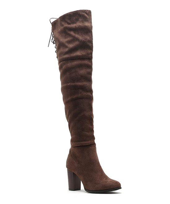 afad38a6e588 love this product Light Brown Zinc Over-the-Knee Boot - Women