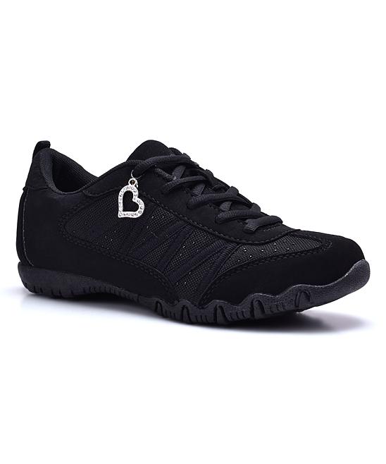 600b6572a25c68 love this product Black Rhinestone Sneaker - Women