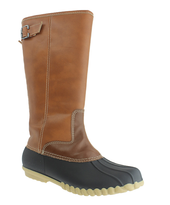 077778209bf OUTWOODS Black & Tan Autumn Tall Duck Boot