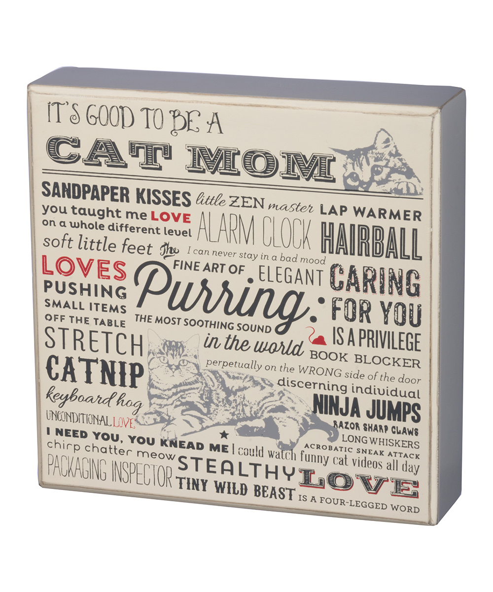 Primitives by Kathy 'Cat Mom' Box Sign