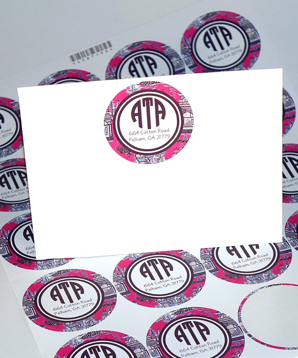 Love this product chine pink personalized stickers set of 40