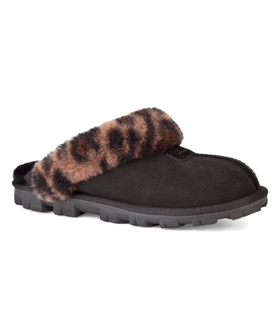 a40fdc7d1c2 UGG® UGG® Black Coquette Leopard Suede Slipper
