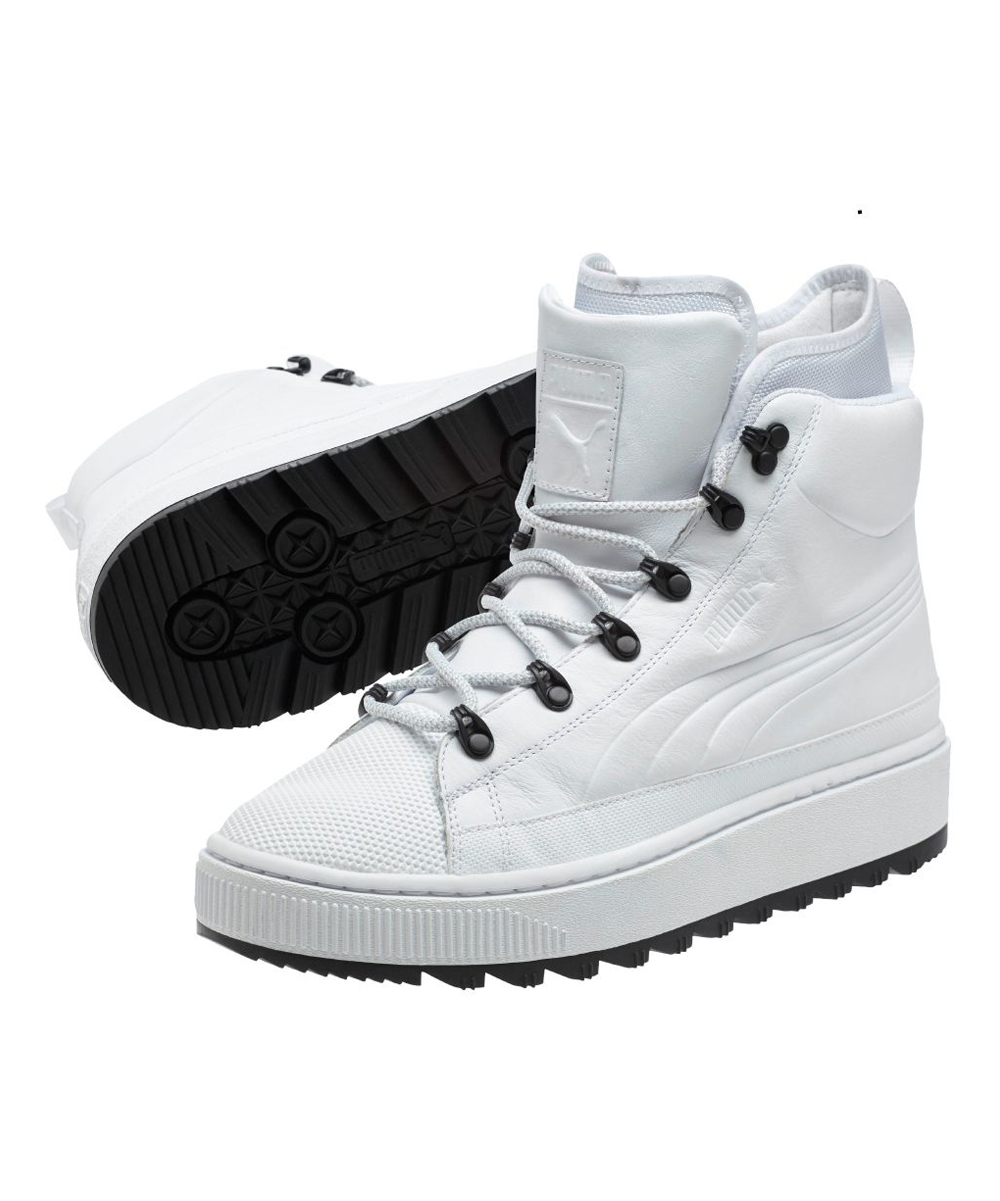 69a5a803c9c34 PUMA White The Ren Boot Jr Hi-Top Sneaker - Kids