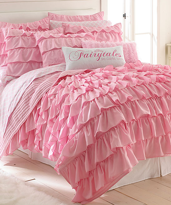 exceptional Levtex Home Quilt Set Part - 16: Levtex Home Pink Tiered Ruffle Quilt Set | zulily