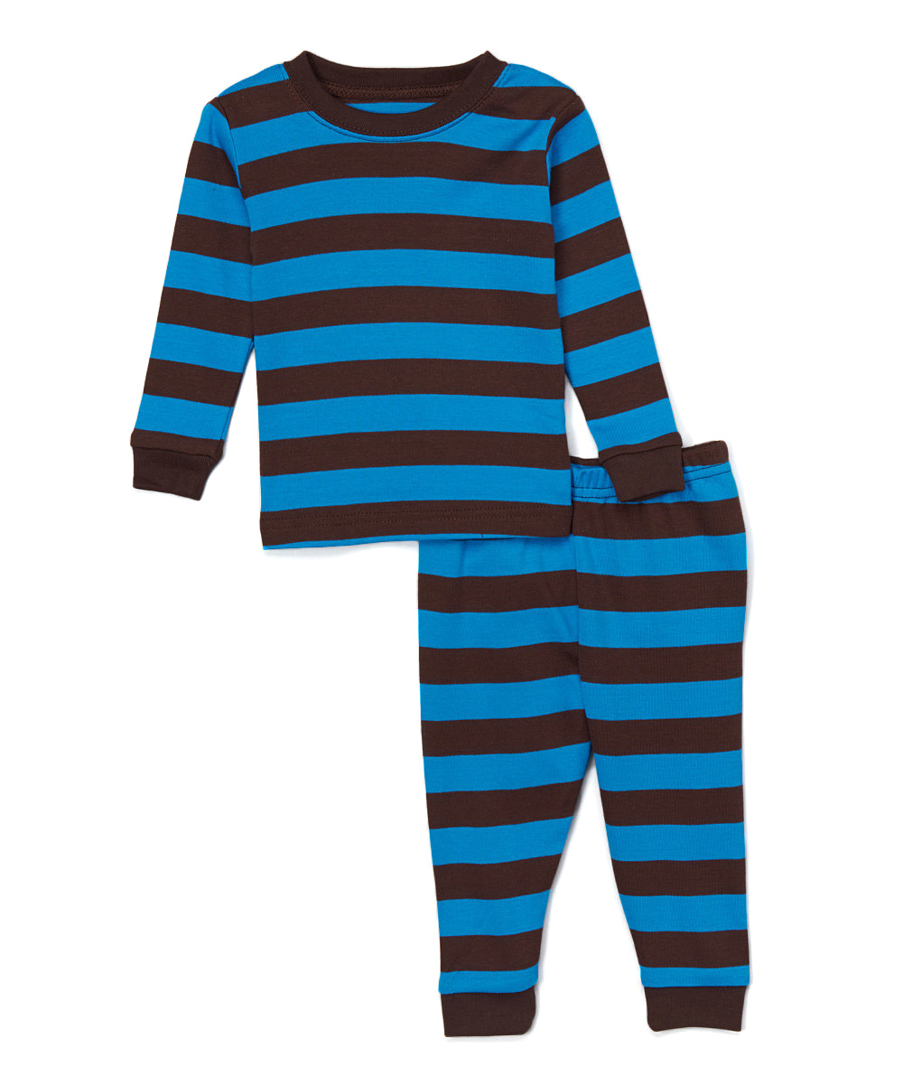 4631b213c69b love this product Chocolate   Blue Stripe Pajama Set - Infant   Toddler
