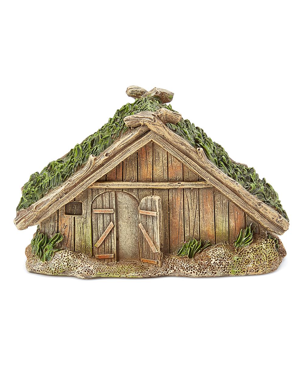 Viking Village Wooden House Figurine