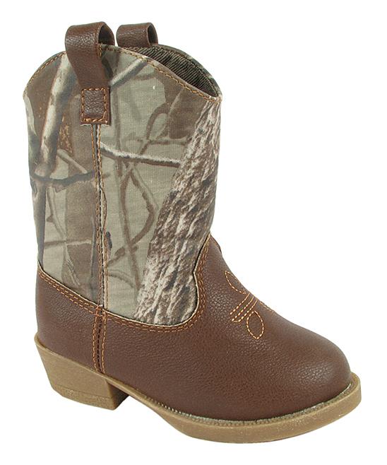 121ee62ca09 Baby Deer Brown & Camo Cowboy Boot - Infant & Toddler