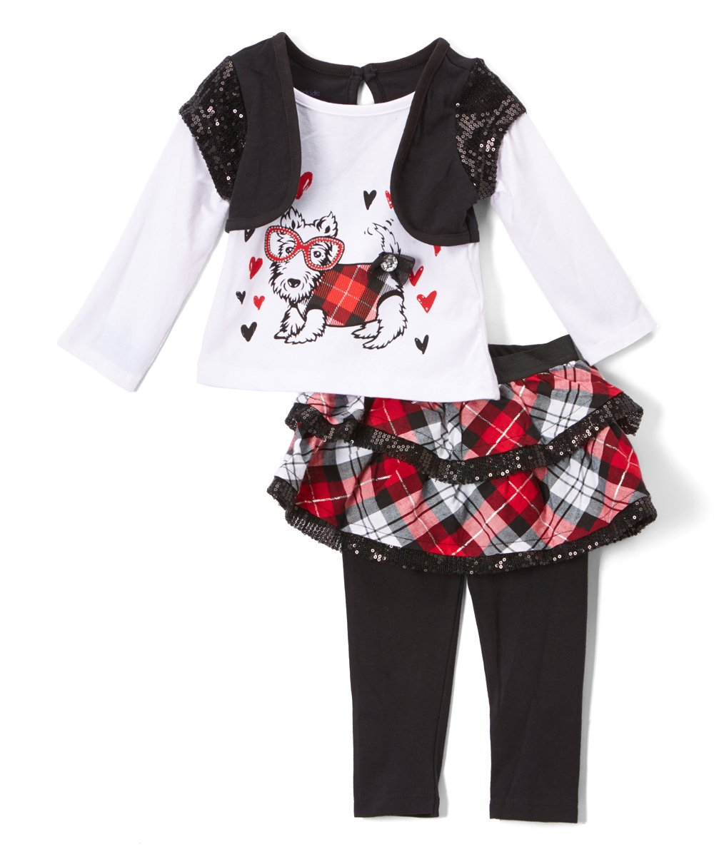 8abdc921bb Childrens Apparel Network Black & Red Plaid Skirt Set - Toddler | Zulily