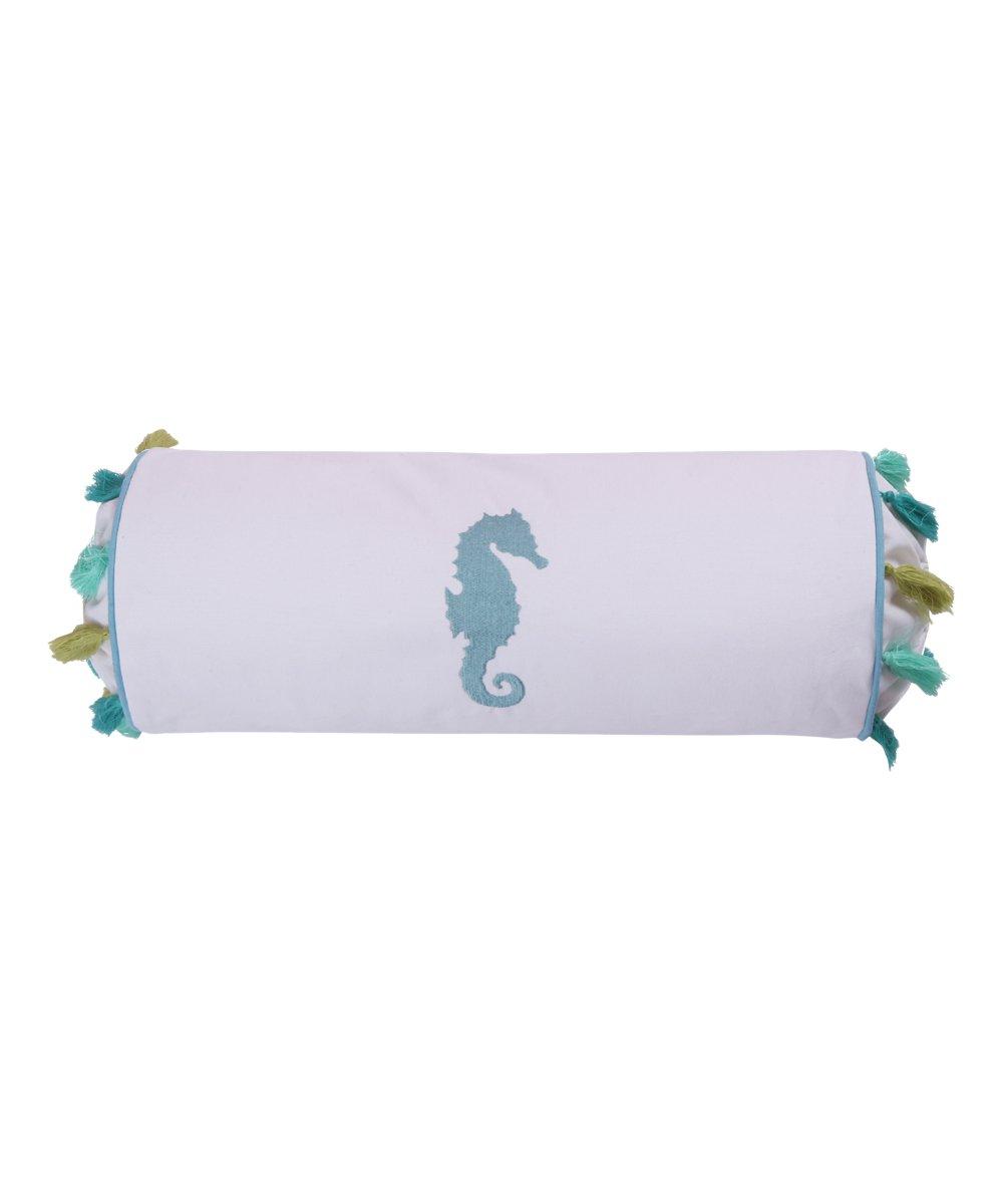Amazing Levtex Home White Blue Ocean Springs Neck Roll Pillow Frankydiablos Diy Chair Ideas Frankydiabloscom